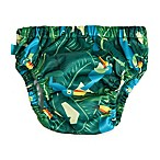 Honest Medium Jungle Print Swim Diaper in Green