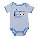 babygear™ Size 3M  My Mom is Dino-Myte  Dinosaur Bodysuit in Blue