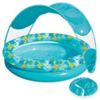 Aqua Leisure® Tot Sunshade Pool with Canopy and Carry Bag in Turquoise/Multi