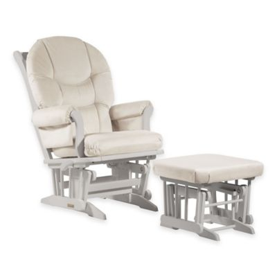 Wooden u003e Dutailier® Ultramotion Round Back Sleigh Glider and Ottoman in White/Light Beige  sc 1 st  buybuy BABY & Dutailier Glider Rockers from Buy Buy Baby islam-shia.org