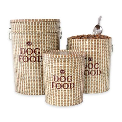 harry barker sweetgrass medium dog food container in brown