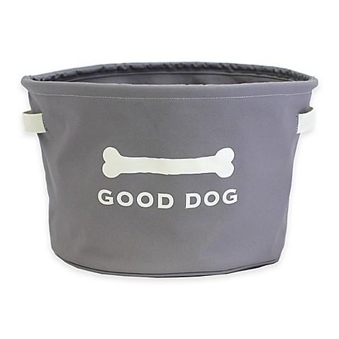Harry Barker® Good Dog Toy Storage Bin In Grey