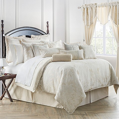 Waterford 174 Linens Paloma Reversible Comforter Set In Ivory