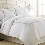 Austin Horn En'Vogue Charlotte Embroidered Queen Duvet Cover Set in Blue