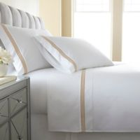 Austin Horn En'Vogue Charlotte Embroidered Queen Sheet Set in Gold