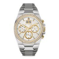 Wittnauer Men's 43mm Chronograph Crystal Watch in Stainless Steel w/ Silver-White Dial