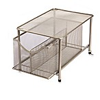 .ORG Large Under the Sink Mesh Slide-Out Cabinet Drawer with Shelf in Matte Nickel