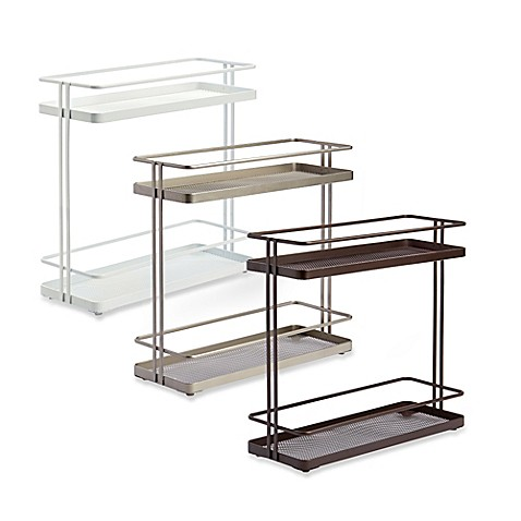 two tier kitchen drawer organizer org 2 tier cabinet organizer www bedbathandbeyond 8609