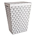 RAD Nylon Rectangle Hamper in Grey/White