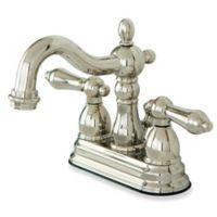 Kingston Brass Heritage 2-Handle Bathroom Faucet in Polished Nickel