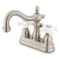 Kingston Brass Heritage 2-Handle Bathroom Faucet in Satin Nickel