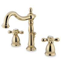 Kingston Brass Heritage 2-Handle Widespread Bathroom Faucet in Polished Brass