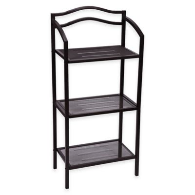 3 Tier Metal Storage Rack In Chocolate Brown