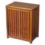 Solid Wood Spa Hamper in Brown