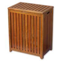Solid Wood Spa Hamper in Brown