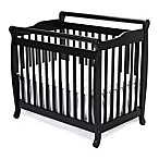 DaVinci Emily 2-in1 Convertible Mini Crib in Ebony