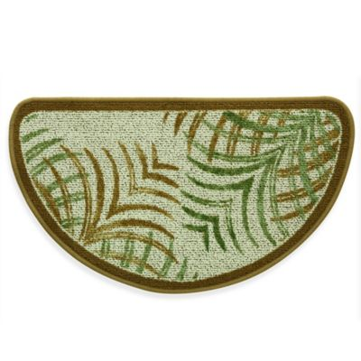 Bacova Mirage 18 Inch X 31 5 Inch Berber Kitchen Rug In Green Brown