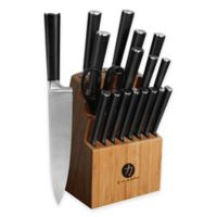Ginsu Chikara 19-Piece Cutlery Set with Bamboo Block