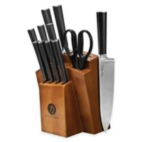Chikara 12-Piece Cutlery Set with Wood Block in Toffee