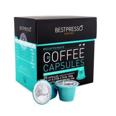 buy bestpresso 80 count decaffeinato nespresso compatible gourmet coffee capsules from bed bath. Black Bedroom Furniture Sets. Home Design Ideas