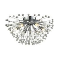 Elk Lighting Starburst 6-Light Semi Flush Light in Polished Chrome