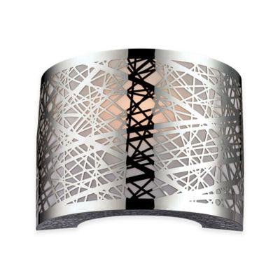 elk lighting ventor 1 light vanity light in polished chrome bed bath and beyond lighting