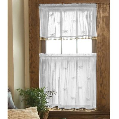 Heritage Lace® Dragonfly Window Valance With Trim In White