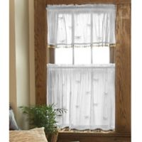 Heritage Lace® Dragonfly 36-Inch Window Curtain Tier with Trim in White