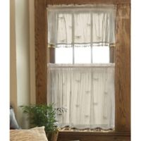 Heritage Lace® Dragonfly 36-Inch Window Curtain Tier with Trim in Ecru