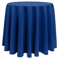 Basic 90-Inch Round Tablecloth in Royal