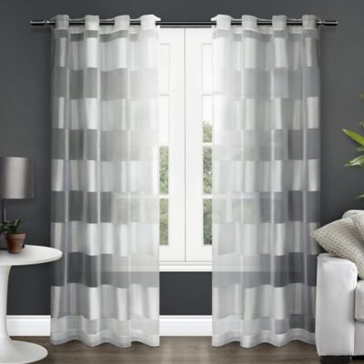 Curtains Ideas brown white striped curtains : Buy Grommet Striped Curtains from Bed Bath & Beyond