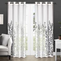 Wilshire 84-Inch Sheer Grommet Top Window Curtain Panel Pair in White