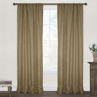 Burlap 84-Inch Rod Pocket Window Curtain Panel Pair in Natural