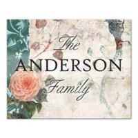Vintage Cottage Family Sign Canvas Wall Art