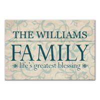 """""""Life's Greatest Blessing"""" Family Sign Canvas Wall Art"""