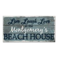 """Live Laugh Love"" Beach House Canvas Wall Art"