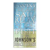Swim Dream Sail Canvas Wall Art