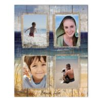 Beach Life Photo Collage Canvas Wall Art