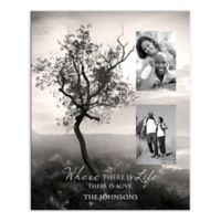 """""""Where There Is Life There Is Love"""" Tree Canvas Wall Art"""