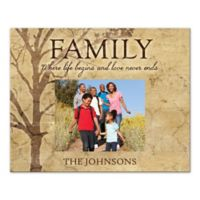 Family Tree Love Never Ends Canvas Wall Art