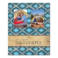 Ikat Family Canvas Wall Art in Blue
