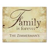 """""""Family is Forever"""" Canvas Wall Art"""
