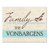 """""""Family One of God's Masterpieces"""" Canvas Wall Art"""