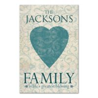 """Family is Life's Greatest Blessing"" Canvas Wall Art"