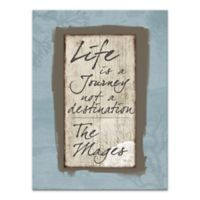 """Pied Piper Creative """"Life Is a Journey"""" Canvas Wall Art"""