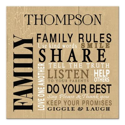 Buy Family Rules Wall Art from Bed Bath & Beyond