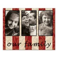 """""""Our Family"""" Striped Canvas Wall Art"""