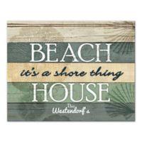 Beach House It's A Shore Thing Canvas Wall Art