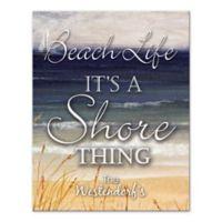 Beach Life It's A Shore Thing Canvas Wall Art