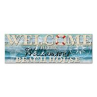 Welcome To The Beach House Canvas Wall Art